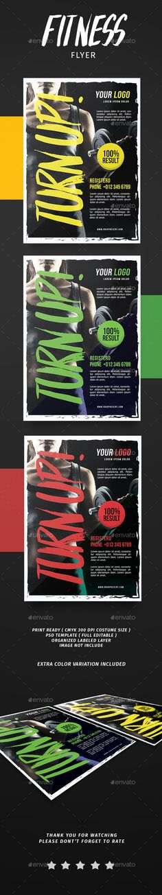 #Fitness #flyer - Flyers Print Templates Download here: https://graphicriver.net/item/fitness-flyer/19471576?ref=alena994