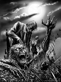 zombie art. (56 imágenes)
