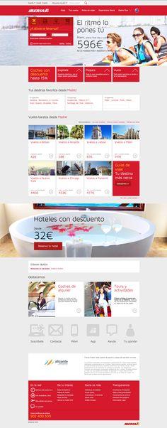 Graphic Web Design. Mockup. New Iberia Web Page.
