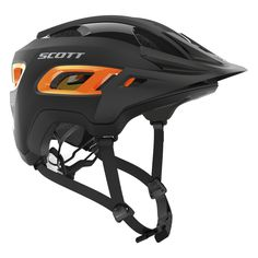 Scott Sports 2016 Stego CPSC Mountain Bicycle Helmet - 227654 (black/orange matt - S) Mountain Bike Helmets, Mountain Bicycle, Mountain Biking, Dual Sport, Cycling Helmet, Bicycle Helmet, Bicycle Safety, Scott Sports, Bicycle Maintenance