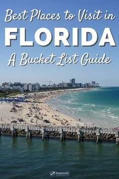 Some of the best places to visit in Florida so you can plan your trip for optimum fun.   Blog by the Planet D   #Travel #Florida   trip to florida   places to travel in florida   florida ideas   florida vacation   places in florida to visit Places In Florida, Florida Vacation, Florida Travel, Vacation Places, Places To Travel, America And Canada, North America, Caladesi Island State Park, Everglades National Park