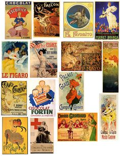 I would love to print these vintage ads full size and frame or 4x4 to decoupage onto tiles.  Love, love this.
