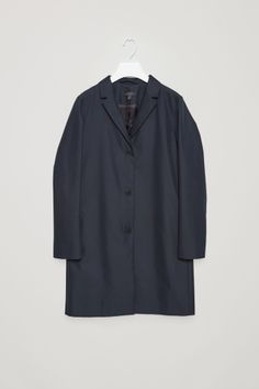 COS image 2 of Tailored twill coat in Navy