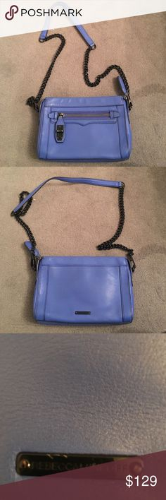 Rebecca minkoff bag Shoulder bag. Royal blue and black chain limited edition. A little furnished as shown in picture. Rebecca Minkoff Bags Shoulder Bags