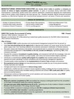Resume format for operation executive