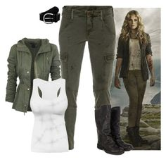 """""""Clarke Griffin - The 100"""" by gone-girl ❤ liked on Polyvore featuring J Brand, Anna Field, the100, ClarkeGriffin, theark and Grounder"""