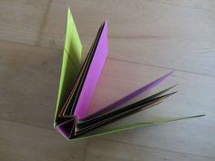Dit spiderboek maakte ik in het atelier van Marja Wilgenkamp. Het is een ontwerp van de Duits-Amerikaanse boekkunstenares Hedi Kyle.