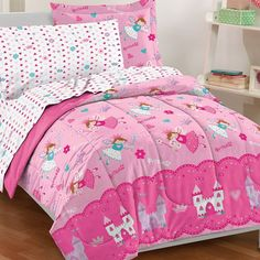 Princess 5-Pc. Bed Set Little Girl's Dream Factory Magical Princess  - Twin NIP #DreamFactory