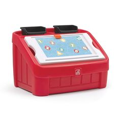 2-in-1 Toy Box & Art Lid™ - Red by Step2 is one of most popular Toy Boxes products for children. View and shop now.