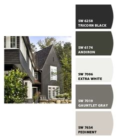 Paint colors from Chip It! by Sherwin-Williams Paint colors from Chip It! by Sherwin-Williams Exterior Paint Schemes, Exterior Paint Colors For House, Paint Colors For Home, Exterior Colors, House Paint Color Combination, Barn Renovation, Craftsman Exterior, Exterior Makeover, Exterior Remodel