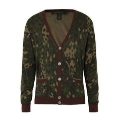 Marc by Marc Jacobs Men's M2123706 Cotton Cardigan - Brown Camouflage