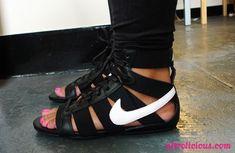 nike, gladiator sandals