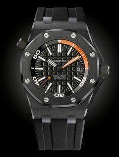 www.watchtime.com | blog | Blackout: 10 New Black on Black Watches | Audemars Piguet ROO Diver black $21,800