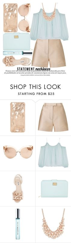 """STATEMENT NECKLACES"" by noraaaaaaaaa ❤ liked on Polyvore featuring 3.1 Phillip Lim, Linda Farrow, Elizabeth and James, Miu Miu, Dolce&Gabbana, Kate Spade and Charter Club"