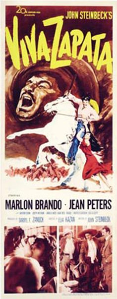 The story of Mexican revolutionary Emiliano Zapata, who led a rebellion against the corrupt, oppressive dictatorship of president Porfirio Diaz in. Jean Peters, Elia Kazan, Anthony Quinn, Marlon Brando, Movies, Films, Film Books, Movie