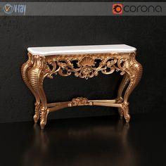Silik classical console  #models #3dmodeling #modeling #turbosquid #3dartist #viktor_log #design #interior