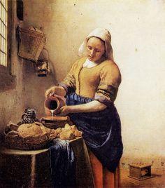 Ян Вермеер Дельфтский. Служанка с кувшином молока. Ок. 1658