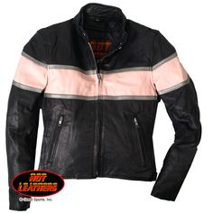 Hot Leathers Ladies' Pink Striped Scooter Jacket. Wish it wasn't pink.