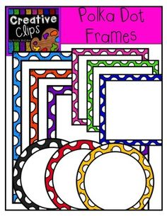 Here's a set with bright, crisp frames in three shapes: rectangle, square and circle. Included in this set are 33 vibrant, colored images and 3 black and white versions. Creative Clips, Classroom Clipart, Classroom Ideas, Boarders And Frames, Clip Frame, Cute Fonts, Zentangle, Free Frames, Borders For Paper