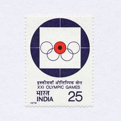 Shooting, XXI Olympic Games, Montreal (25nP). India, 1976. Design: Unknown. #mnh #graphilately | by BlairThomson