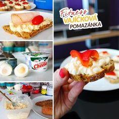 Vajíčková fitness pomazánka s tuňákem - recept Bajola French Toast, Muffin, Keto, Cheese, Snacks, Healthy, Breakfast, Spreads, Recipes
