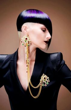 Future Fashion, Pavel Okhapkin, futuristic fashion, purple hair, futuristic style