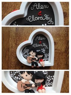 Wedding~ by lyrese on DeviantArt - San Valentino Idee Polymer Clay Christmas, Cute Polymer Clay, Polymer Clay Dolls, Polymer Clay Miniatures, Polymer Clay Charms, Polymer Clay Projects, Polymer Clay Creations, Clay Crafts, Polymer Clay Jewelry