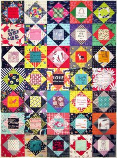 thrift blocks Blocks sewn together without sashing, love the idea.