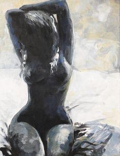 """Saatchi Online Artist Sara Riches; Painting, """"Cold Love"""" #art"""