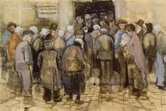 Vincent van Gogh - watercolours 1882 The State Lottery Office