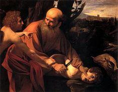 El sacrificio de Isaac. Caravaggio. 1603. Óleo sobre lienzo. 104x135 cm. Galería Uffizi, Florencia.