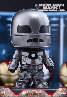 Hot Toys – COSB261 – Iron Man 3 - Iron Man Mark I Cosbaby Bobble-Head Chibi Marvel, Marvel Heroes, Marvel Characters, Marvel Avengers, Marvel Comics, Funko Pop, Iron Man 3, Joker And Harley Quinn, Bobble Head