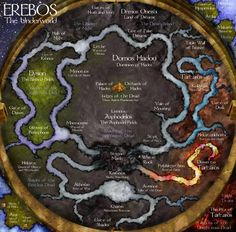 Greek And Roman Mythology, Greek Gods And Goddesses, Fantasy Map, Dark Fantasy, Greek Underworld, Hades Underworld, Religion, Hades And Persephone, Mystique