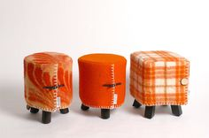 Warme deken voor je kruk oranje