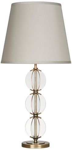 Robert Abbey Latitude Clear Glass Antique Brass Table Lamp -