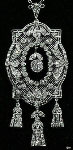 Antique Openwork Diamond Pendant