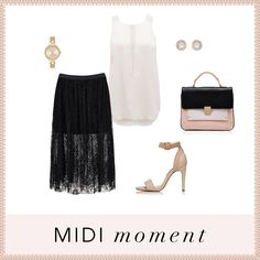 MIDI moment- forever new! Forever New, In This Moment, Polyvore, Image, Clothes, Fashion, Tall Clothing, Moda, Fashion Styles