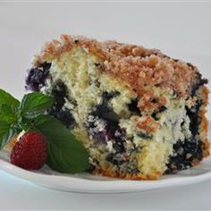 Blueberry pie with kefir