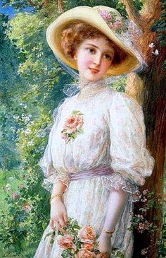 ~ Emile Vernon ~ If I could paint like that....Soo femme, so softly beautiful...<3