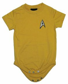 Amazon.com: Star Trek Starfleet Captain Kirk Command Uniform Creeper Romper: Clothing