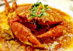 Chili Crab is one of Singapore national dish. My recipe is only slightly spicy. If you like spicy food, double or tripe the chili in the recipe. Crab Recipes, Spicy Recipes, Asian Recipes, Cooking Recipes, Healthy Recipes, Ethnic Recipes, Chilli Crab Recipe, Crab Legs Recipe, Crab Dishes