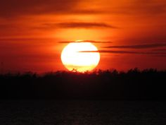 Beautiful sunset from Andropolis Cottages in Sturgeon Bay, Door County, WI. Taken by Andre Andropolis