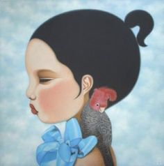 Paintings by Poh Ling Yeow, a Malaysian-born Australian artist, actress and runner-up in MasterChef Australia. Masterchef Australia, Paint Pens, Australian Artists, Cool Art, Awesome Art, Klimt, South Australia, Wood Boxes, Disney Characters