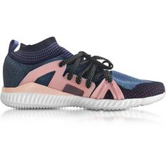 Adidas Stella McCartney Plum and Ballet Pink Crazymove Bounce Women's... ($189) ❤ liked on Polyvore featuring shoes, sneakers, adidas trainers, plum shoes, pink sneakers, pink trainers and adidas shoes