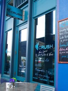 Intimate wine bar & restaurant w/ small-plate menu, sushi, a daily cheese board & extensive wine list.  850.468.0703 / www.crush30a.com