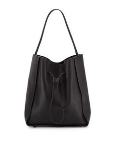 Soleil Large Drawstring Bucket Bag, Black by 3.1 Phillip Lim at Neiman Marcus.