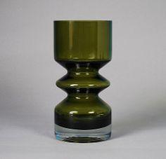 Riihimki Green Glass Vase Designed by Tamara Aladin 8'' (Psychoceramicus) Tags: green glass vintage finland still tamara nanny retro vase finnish aladin scandinavian oy lasi riihimki riihimaki riihimen riihimaen