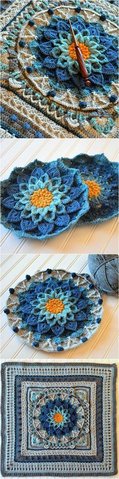Around the Bases Afghan [Free Crochet Pattern] Around-the-Bases afghan is a crochet stitch sampler that turns YOUR favorite center block into an afghan. #crochet #square