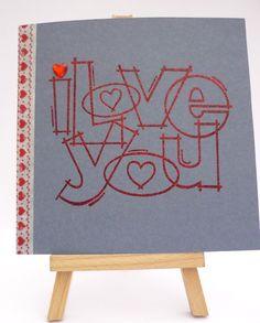 I Love You Handmade Valentine's Day Card £2.00