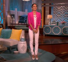 Top: Banana Republic  Jacket: Truth and Pride  Pants: AG   Shoes: Brian Atwood  Jewelry: Melinda Maria  Belt: J.Crew